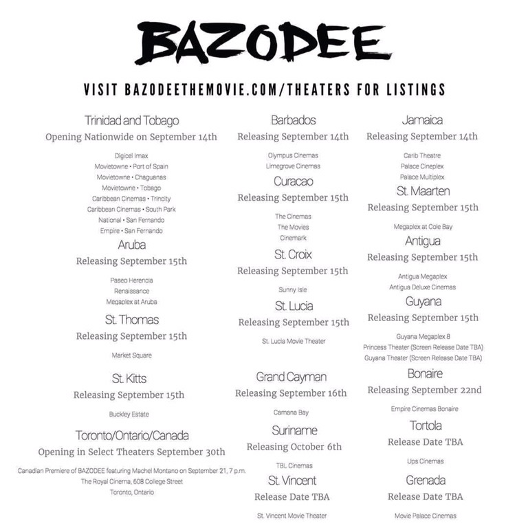 Bazodee Movie Theaters for Listings